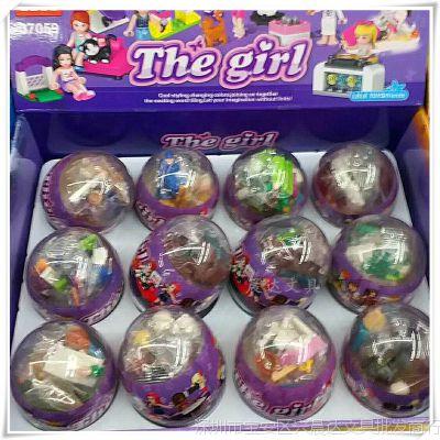 将牌新款我的世界拼装积木女孩系列人仔抽抽蛋儿童益智拼插积木批