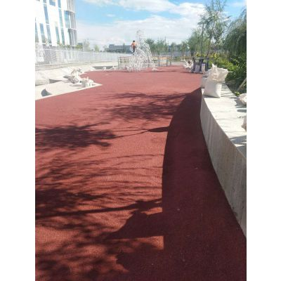 新疆区域彩色透水混凝土路面施工及价格