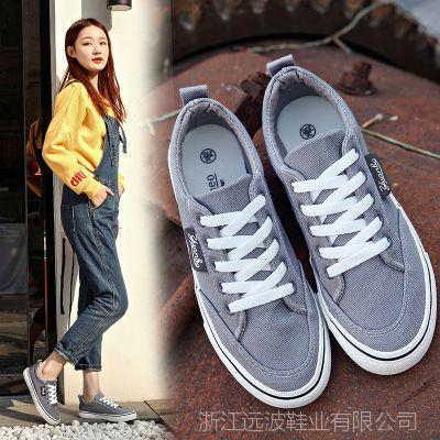 远波2018新品时尚低帮帆布鞋女学生韩版百搭休闲平底鞋批发A8931