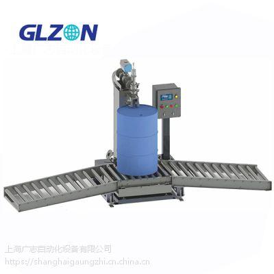 半自动真石漆液体灌装机上海广志自动化常压罐装