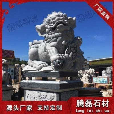 惠安厂家石雕狮子批发 青石石雕狮子多少钱一对