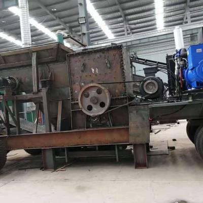 BY100吨/时移动式破碎机 移动式碎石机 流动式石子机躲开环保生产
