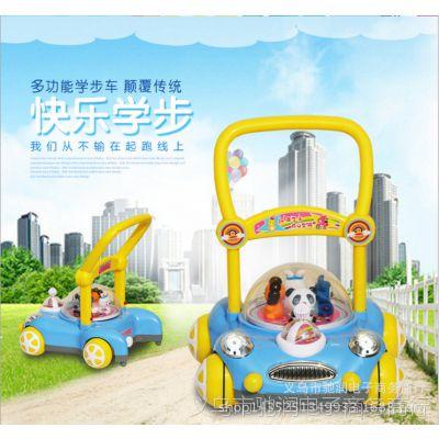 厂家直销婴儿多功能助步车防止O型腿学步车灯光音乐手扶车手推车