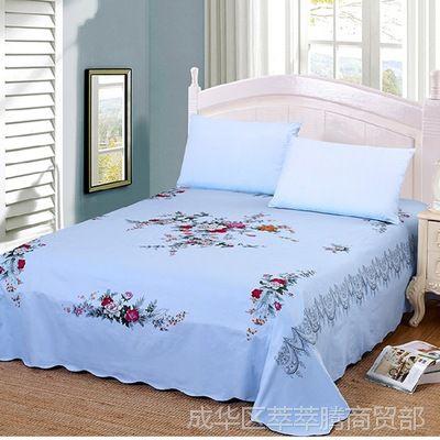 上海亿飞全棉国民床单单件纯棉布料双人斜纹复古加厚老式丝光床单