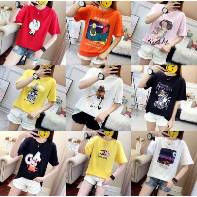 便宜女士T恤特价女装夏季热销韩版女装短袖大码女式上衣工厂特价