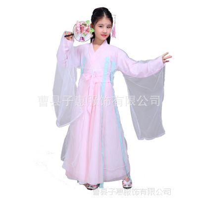 三生三世十里桃花衣服同款白浅汉服儿童夜华女童古装仙女装演出服