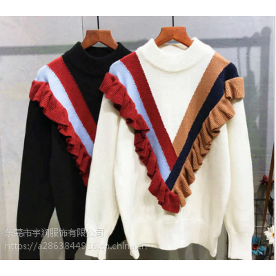 广州便宜女式毛衣清货亏本清货韩版毛衣加绒毛衣清货库存服装清货