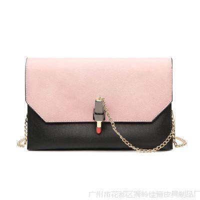 广州女包批发2017新款韩版口红锁扣手拿包跨境气质斜挎单肩包包