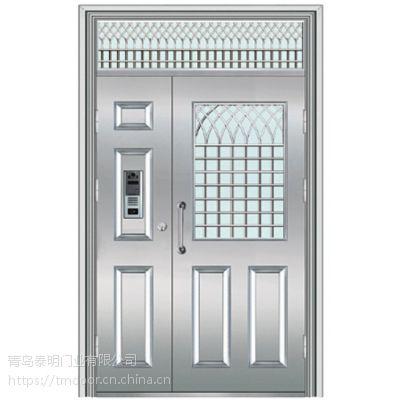 关注日照不锈钢单元门 子母门、三开门 不锈钢单元门供应商