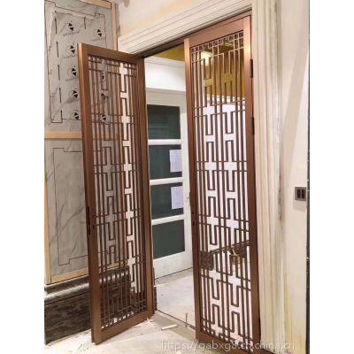 专业设计古典型家用客厅隔断屏风 办公隔断 拉丝不锈钢红古铜屏风