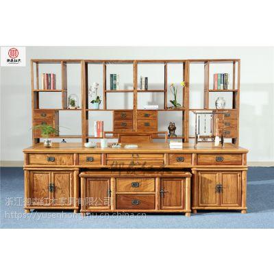 刺猬紫檀书柜书柜组合-红木古典中式家具-花梨木书房