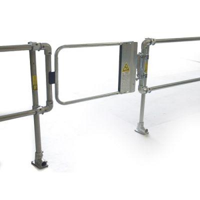 工业自动关闭弹簧安全门 工厂车间钢制护栏门