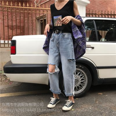 便宜女装牛仔裤韩版时尚杂款牛仔裤清货5元裤子处理低价清货尾单