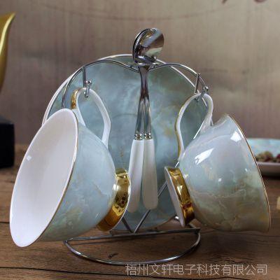 英式下午茶茶具套装欧式约咖啡具架子组合家用茶壶茶杯整套