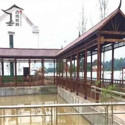 供应美丽乡村景观廊亭,转角实木景观长廊