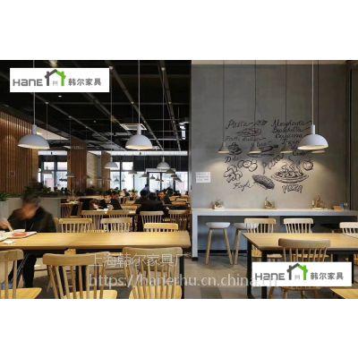 供应HL002餐厅桌椅 主题火锅店桌椅定做 韩尔简约现代品牌