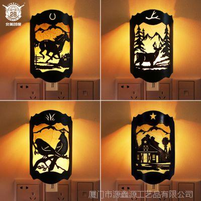 北美28度 西部牛仔风格小夜灯 新奇特多造型创意家居夜灯墙壁挂饰