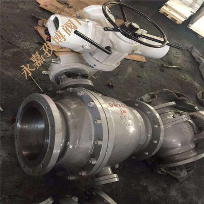 临沂市防爆电动球阀 Q941F-40P Q941H-40P 国标不锈钢电动开关球阀 DN150