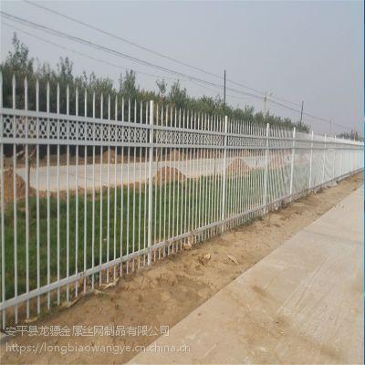 产业园围墙护栏工程 工地隔离栏杆 铁艺护栏
