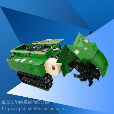驰航农用开荒除草机 小型履带式拖拉机施肥机 自走式除草松土机品牌