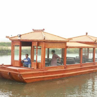 供应无锡太湖10米豪华观光画舫船案例 景区餐饮船 仿古客船价位