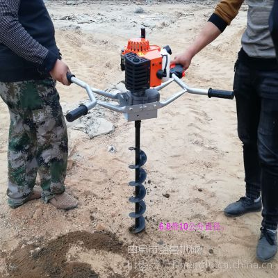 大马力种植打孔机 立柱挖坑机 圣鲁机械
