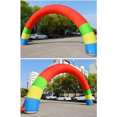 充气拱门广告活动彩虹门开业庆典拱门8米12米15米气模拱门