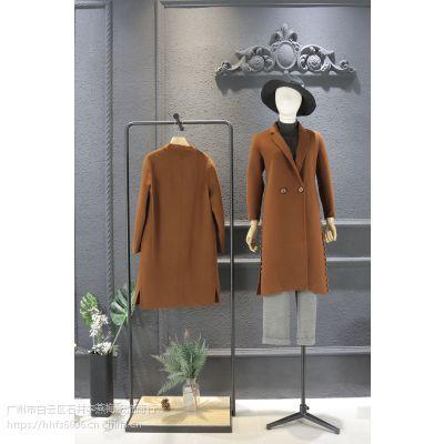 一三国际品牌女装折扣店进货折扣女装 服装品牌几折拿货尾货卡其色毛衣