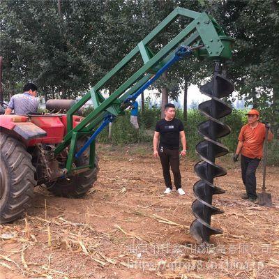 佳鑫快捷4.8马力40公分直径挖坑机 大功率工程地钻机 苗木种植挖穴,畜牧围栏埋桩挖穴生产厂家