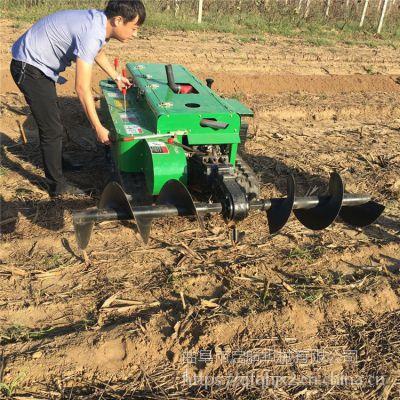 直销多功能果树施肥机 启航牌农用起垄果树地开沟机