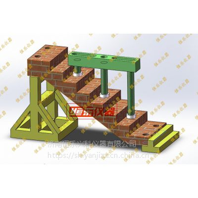 恒乐仪器预制板 叠合板加载反力架 楼梯式样检测装置