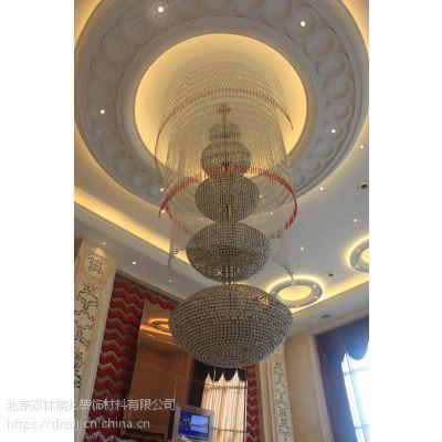 专业定制酒店大堂现代水晶楼梯旋转大吊灯