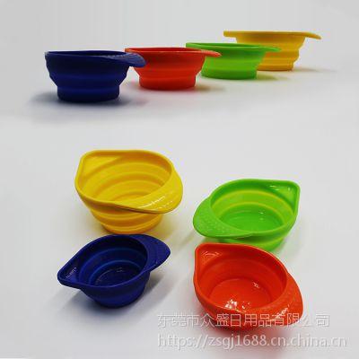 烘焙量杯定制厂家丨创意硅胶折叠量杯批发自主研发产品
