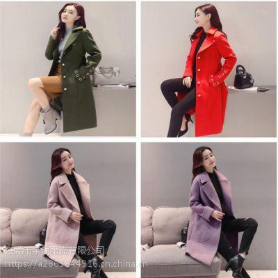 中长款毛呢外套清货韩版时尚女士呢子大衣清货便宜服装清货羊绒大衣处理