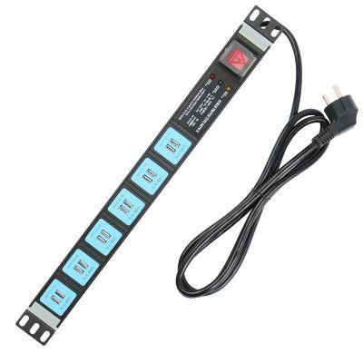 PDU机柜插座 工业插排 多用孔接线板 服务器电源分配单元 供电底座 USB供电母座 防雷抗浪涌