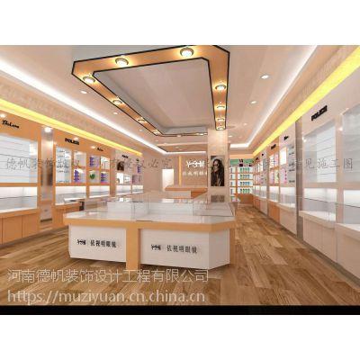 玉林眼镜店装修公司 眼镜店展柜设计制作 眼镜柜台生产厂家 烤漆柜台定制