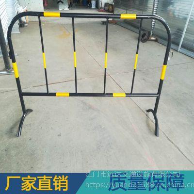 低价促销黄黑铁马护栏 道路临时移动围栏 镀锌钢管铁马