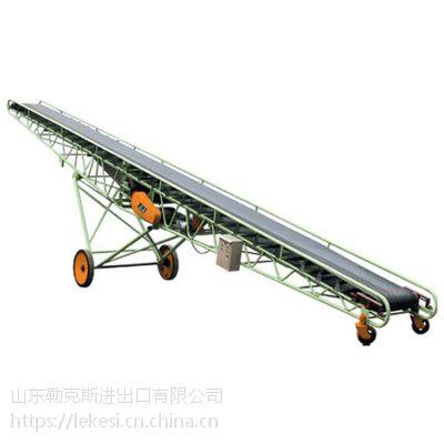 山东勒克斯管式皮带输送机小型输送带机固定式胶带输送机
