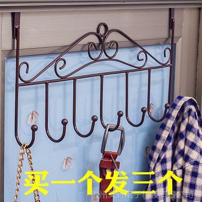 门后挂钩免钉门上挂衣架毛巾架门背式置物架无痕衣帽架