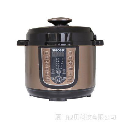 视贝电饭煲家用6L升6人方煲锅多功能自动双胆电压力锅SCP607R批发