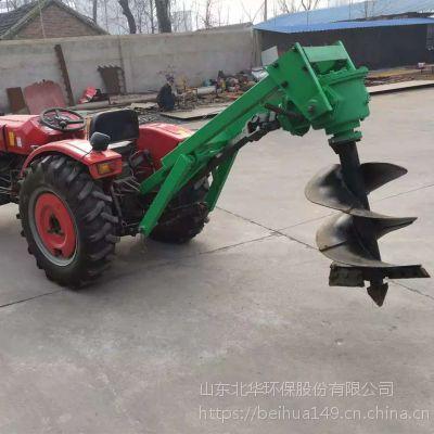 农业挖坑机悬挂式双头挖坑机 北华厂家直销