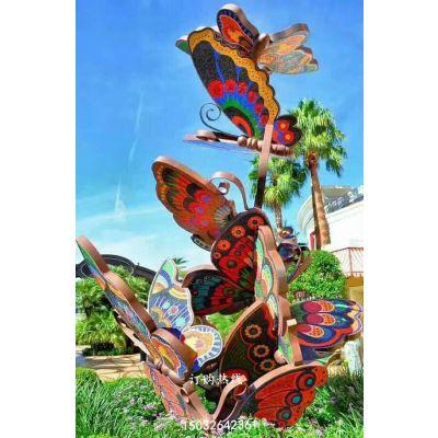 蝴蝶雕塑 金属景观雕塑 蝴蝶雕塑厂家 不锈钢蝴蝶景观雕塑厂家