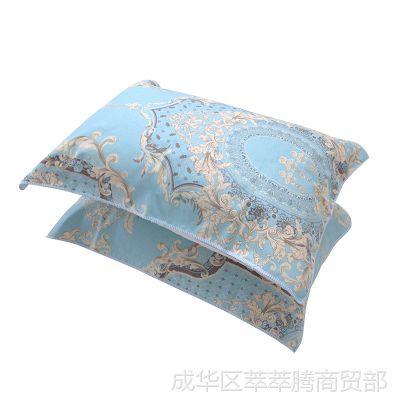 夏凉老粗布枕巾清凉装纯棉夏季一对枕头巾透气吸汗100%全棉大号