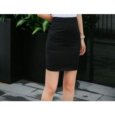 2019新款韩版女士半身裙职业OL装短裙学生面试开衩裙