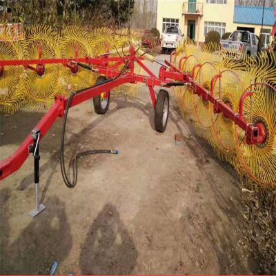 玉米秸秆清理搂草机 全自动牧草稻草搂草机 多盘式液压搂草机