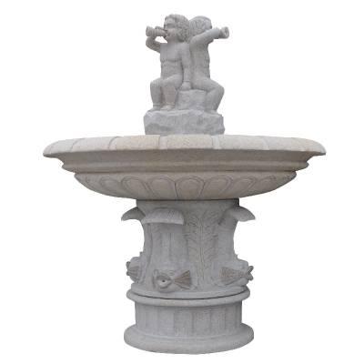 供应天然大理石双层简约风水球喷泉招财石雕水转球工厂直销水钵