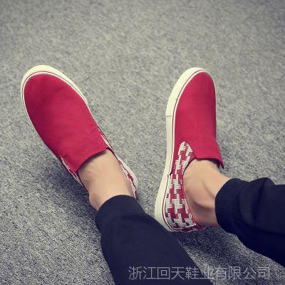 韩版潮流休闲帆布鞋一脚蹬懒人老北京布鞋透气休闲鞋8399