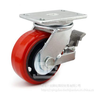 大世脚轮50系列 1000kg 超重型铁芯聚氨酯实心脚轮 厂家直销