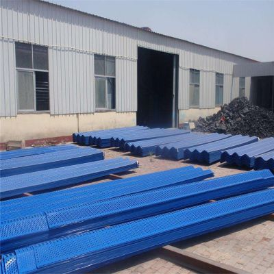 镀锌板防风网 山西储煤场防尘板 绿色冲孔网