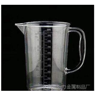 厂家直销亚克力量杯带刻度PC量壶 实验室医用耐热耐高温奶茶店用
